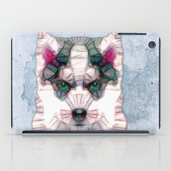 abstract husky puppy iPad Case
