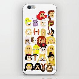 Princess Alphabet iPhone Skin