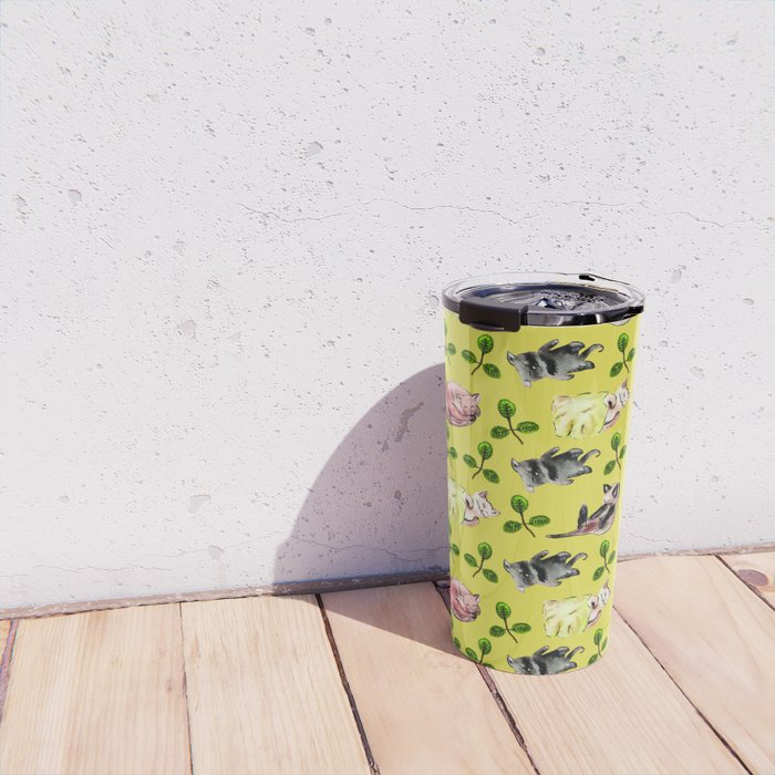 Cats In the Grass Travel Mug