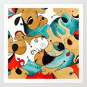 Abstract Tea Critters by nicalorber