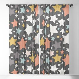 All About the Stars - Style H Sheer Curtain