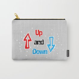 text up and down arrows arrows symbols Carry-All Pouch