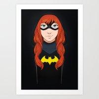 batgirl Art Prints featuring Batgirl by SoLaNgE-scf