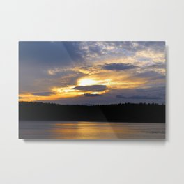 Sunset at Concord's Walden Pond 12 Metal Print