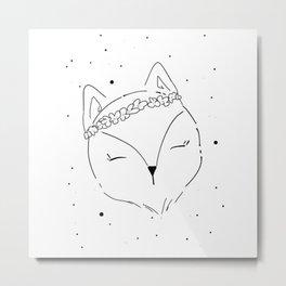 Fox Blossom illustration Metal Print