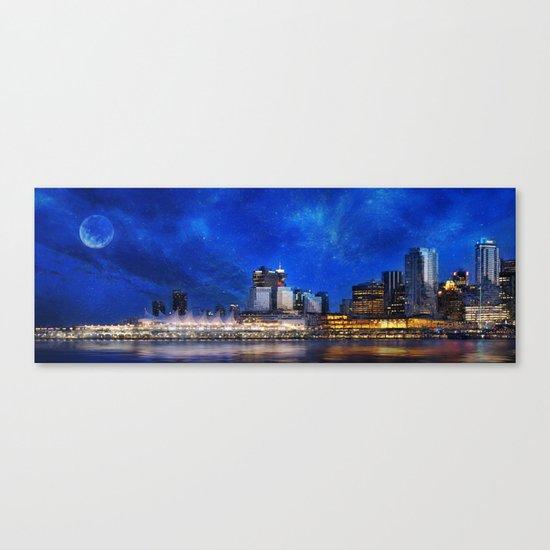 Canada At Night Canvas Print