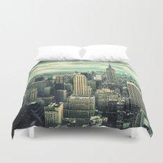 new york city panoramic view skyline Duvet Cover
