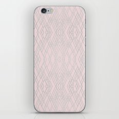 Art Deco Pink and Silver iPhone & iPod Skin