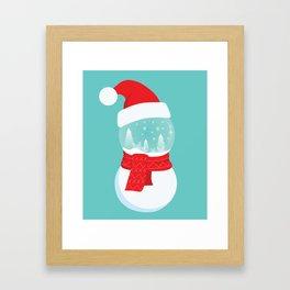 Snow Man versus Snow Ball Merry Christmas Framed Art Print