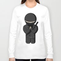 bow Long Sleeve T-shirts featuring Ninja Bow by Shyam13