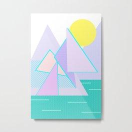 Hello Mountains - Lavender Hills Metal Print