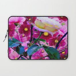 YELLOW ROSE GARDEN BEAUTY & PINK COSMOS Laptop Sleeve