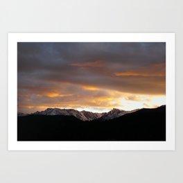Sunset on Trail Ridge 3 Art Print