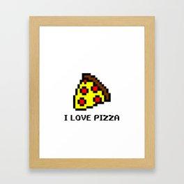 Pixel Pizza Framed Art Print