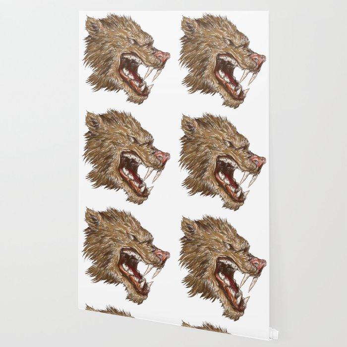 Head with sharp teeth Wallpaper