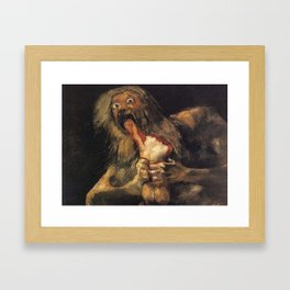SATURN DEVOURING HIS SON - GOYA Framed Art Print