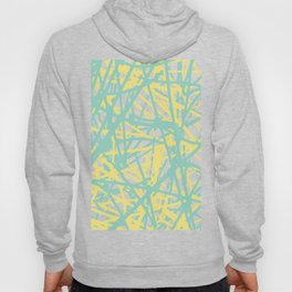 Daisy Scribble Navy, Mint and Lemon Hoody