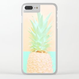 Pineapple Splice Clear iPhone Case