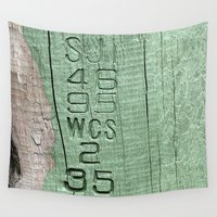code Wall Tapestries featuring Code  by Ethna Gillespie