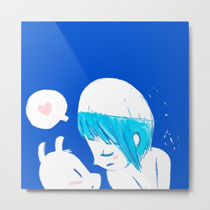 Blue lovers Metal Print