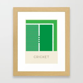 Cricket (Sports Surfaces Series, No. 7) Framed Art Print