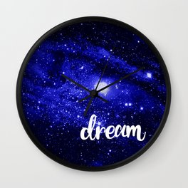 Blue Galaxy Dream Wall Clock