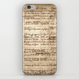 Post Office Postmaster Appointments Antique Paper iPhone Skin