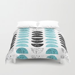 Marble Half-Moons in Tiffany Blue Duvet Cover