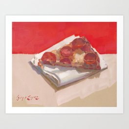 Pepperoni Pizza Art Print