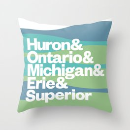 Great Lakes Ampersand Throw Pillow