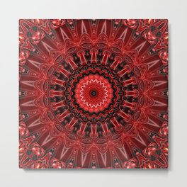 Mandala deep red Metal Print
