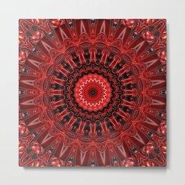 Mandala deep red Metal Print
