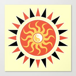 Yin yang sunshine Canvas Print