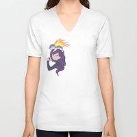 zuko V-neck T-shirts featuring Join the Team by Kaydee Elaine - Odd Kitten Art