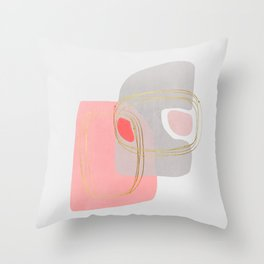 Modern minimal forms 47 Throw Pillow