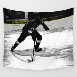 On the Move - Hockey Player Wall Tapestry
