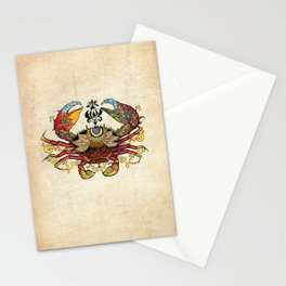 Cancer crab Stationery Cards