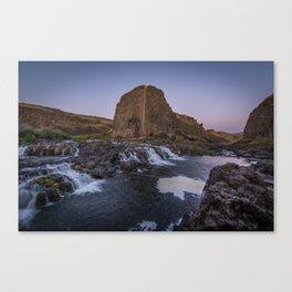 Palouse Falls - Waterfall Sunset Canvas Print