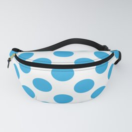 Blue Large Polka Dots Pattern Fanny Pack
