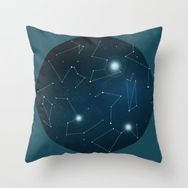 Hemisphere 1 Throw Pillow