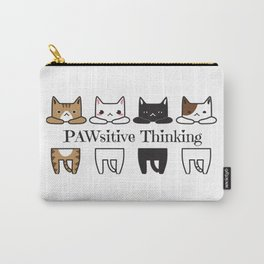 PAWsitive Thinking - Funny Cat Meme Carry-All Pouch