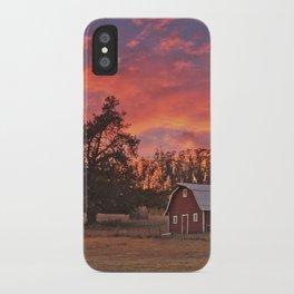 Barn Sunset iPhone Case