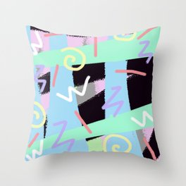 vintage 90s craze Throw Pillow