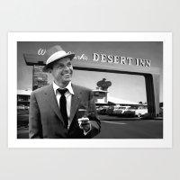 Frank Sinatra in Las Vegas Art Print