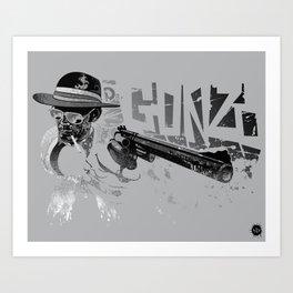 Dr Gonzo Art Print