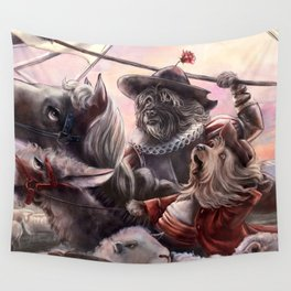Miguel Dog Cervantes Wall Tapestry