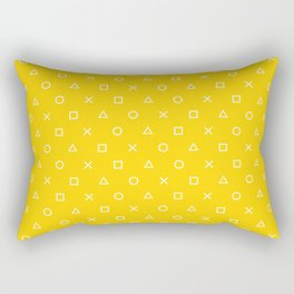 Yellow Gamer Pattern Rectangular Pillow