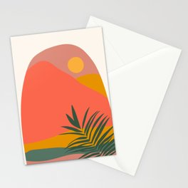 Tropical Landscape Stationery Cards