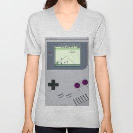 OLD GOOD GAMEBOY Unisex V-Neck