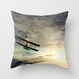Morning Flight Airplane Throw Pillow